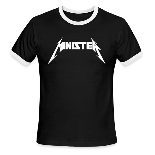 Minister (Rock Band Style) - Ringer - Men's Ringer T-Shirt