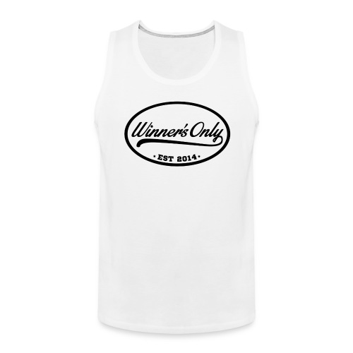 Winner's Only Men's White/Blk Tank - Men's Premium Tank