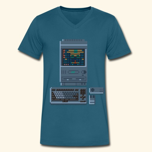 Japanese Computer FMT II - Men's V-Neck T-Shirt by Canvas
