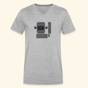Japanese Computer X68000b - Men's V-Neck T-Shirt by Canvas