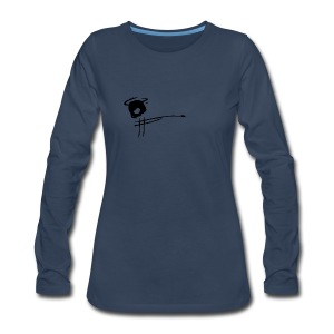 Bitter Hearts Skull & Spear Logo Long Sleeve Shirt - Women's Premium Long Sleeve T-Shirt