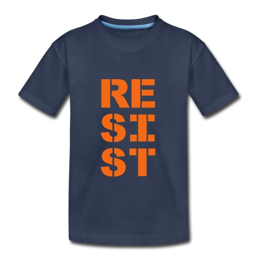 * RESIST vertical bold *  - Toddler Premium T-Shirt