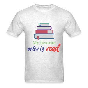 My favorite color is read - Men's T-Shirt