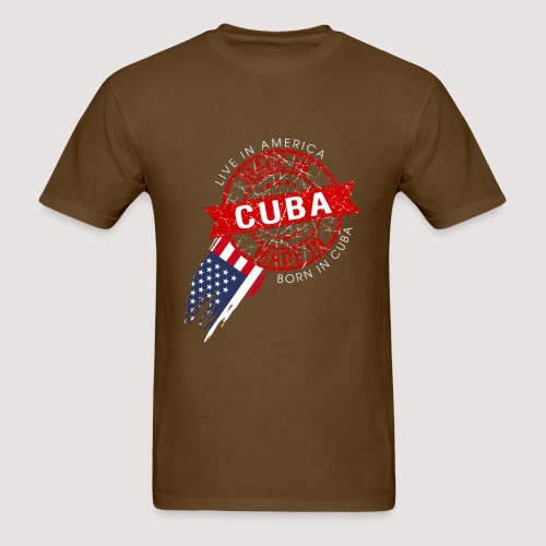 I was born cuba live in usa - Men's T-Shirt