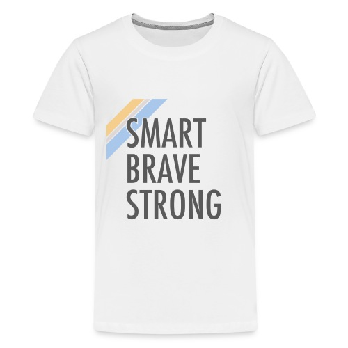 Kid's Smart Brave Strong - Gold - Kids' Premium T-Shirt