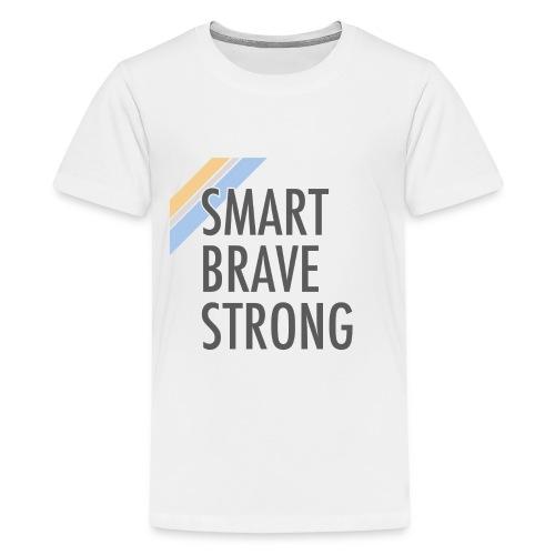 Kid's Smart Brave Strong - Gold - Kids' Premium T-Shirt