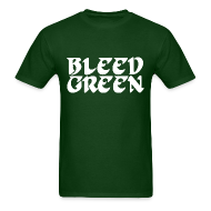 T-Shirts ~ Men's T-Shirt ~ Birds Bleed Green Shirt