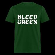 T-Shirts ~ Men's T-Shirt ~ Birds Bleed Green Shirt