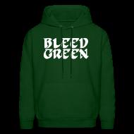 Hoodies ~ Men's Hoodie ~ Birds Bleed Green SweatShirt