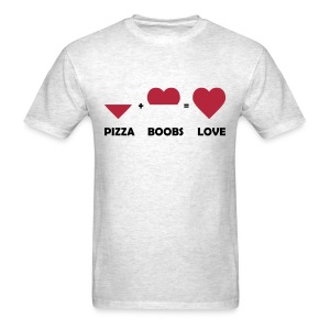 pizza boobs love T-Shirts - Men's T-Shirt