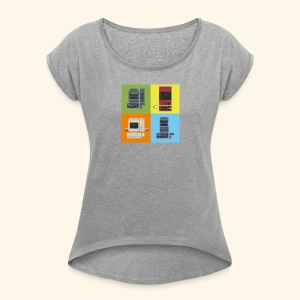 Japanese Computers - Women´s Rolled Sleeve Boxy T-Shirt