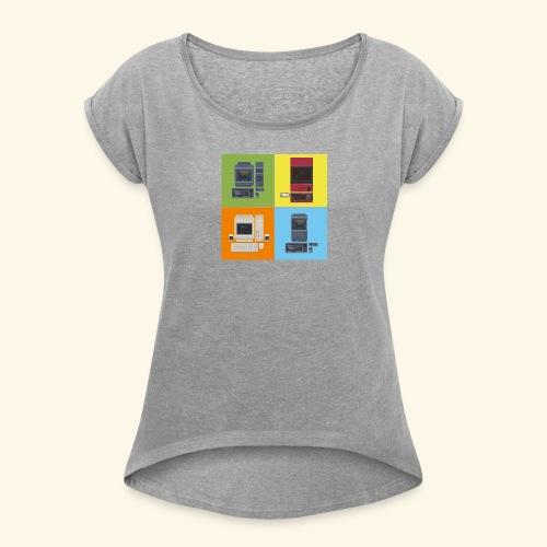 Japanese Computers - Women's Roll Cuff T-Shirt