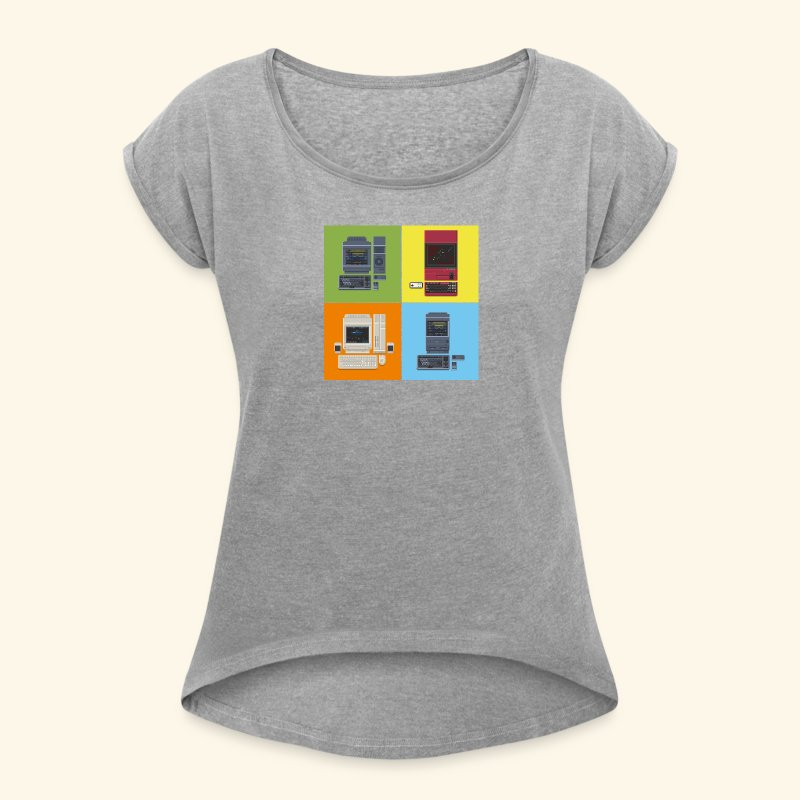 Japanese Computers - Women's Roll Cuff T-Shirt