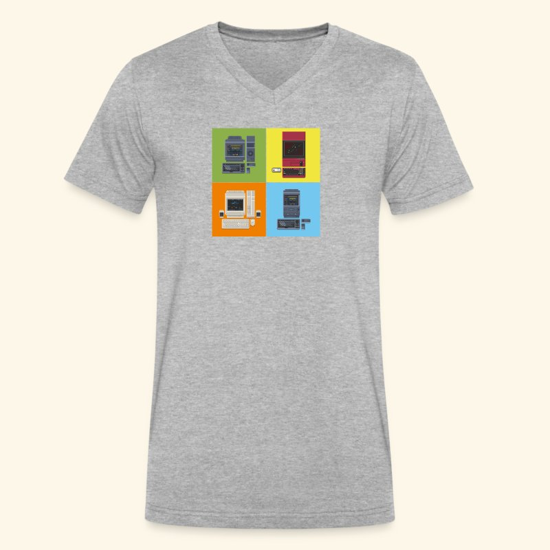 Japanese Computers - Men's V-Neck T-Shirt by Canvas