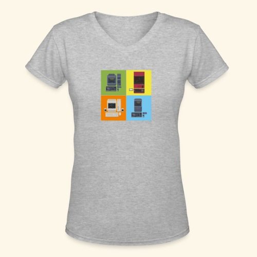 Japanese Computers - Women's V-Neck T-Shirt