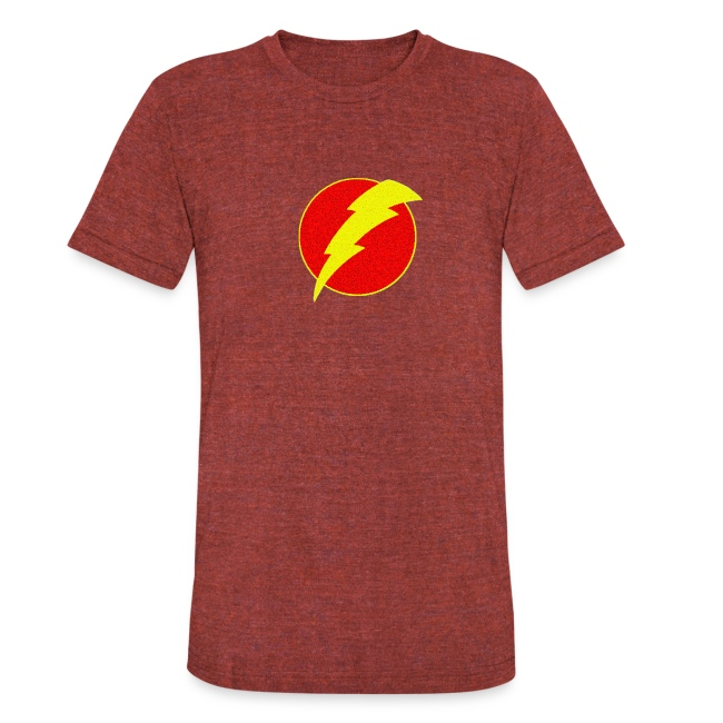 Girl Power Gifts And Tees Lightning Bolt Retro Flash Unisex Tri