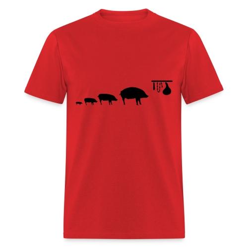 pig_evolution - Men's T-Shirt