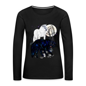 Two Wolves - Women's Premium Long Sleeve T-Shirt
