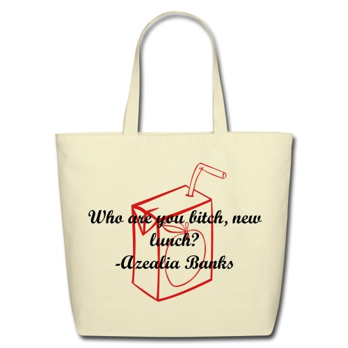 New Lunch-A Tribute To Azealia Banks - Eco-Friendly Cotton Tote