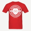 Historically Black Colleges (HBCUs Listed on Back) - Red and White Shirt - Men's T-Shirt
