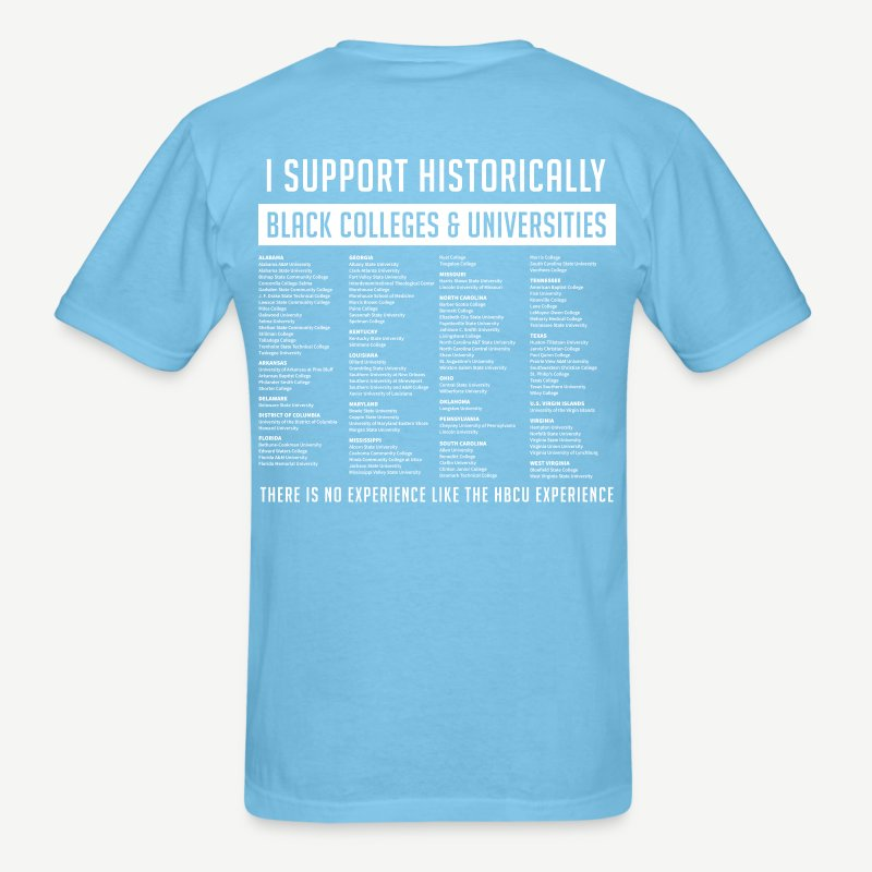 Historically Black Colleges (HBCUs Listed on Back) - Red and White ...