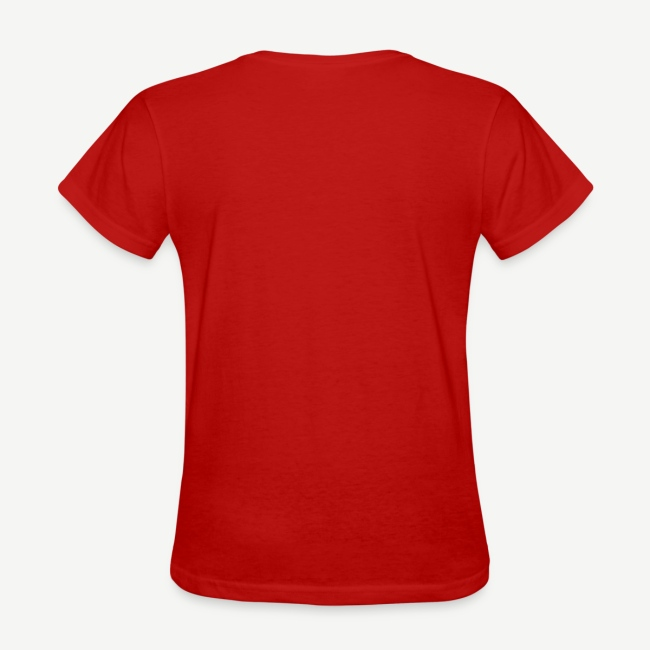 HBCU And Chill - Women's White, Black and Red T-shirt