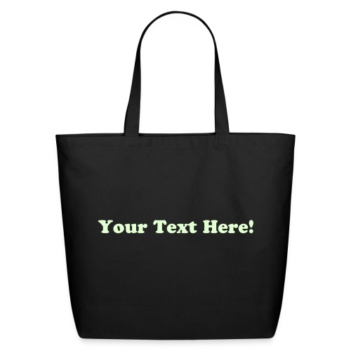 Customized Glow in the Dark Text Tote Bag - Eco-Friendly Cotton Tote
