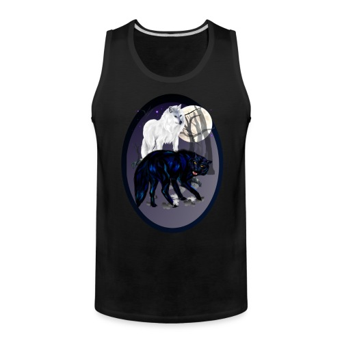 Two Wolves oval - Men's Premium Tank