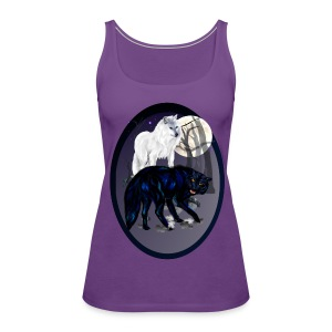 Two Wolves oval - Women's Premium Tank Top