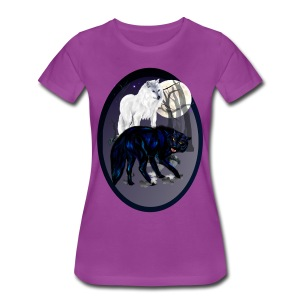 Two Wolves oval - Women's Premium T-Shirt
