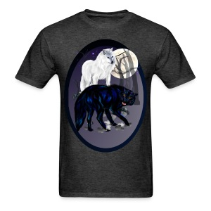 Two Wolves oval - Men's T-Shirt