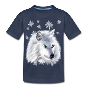 WHITE SNOW WOLF  - Kids' Premium T-Shirt