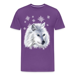 WHITE SNOW WOLF  - Men's Premium T-Shirt