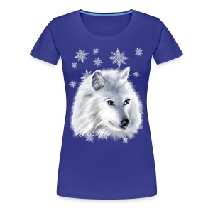 WHITE SNOW WOLF  - Women's Premium T-Shirt