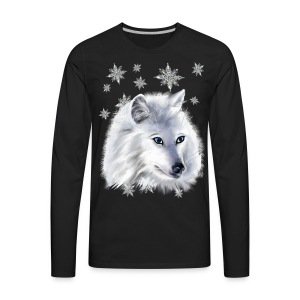 WHITE SNOW WOLF  - Men's Premium Long Sleeve T-Shirt