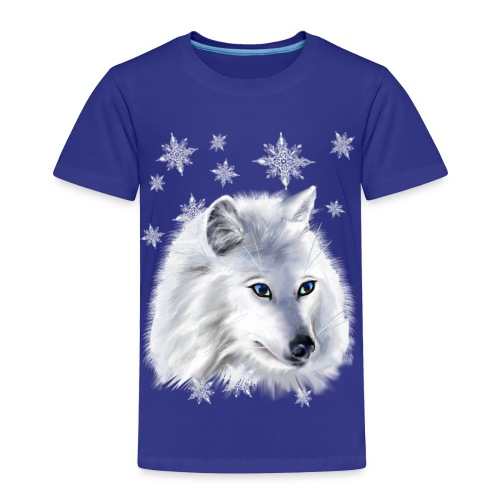 WHITE SNOW WOLF  - Toddler Premium T-Shirt