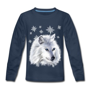 WHITE SNOW WOLF  - Kids' Premium Long Sleeve T-Shirt
