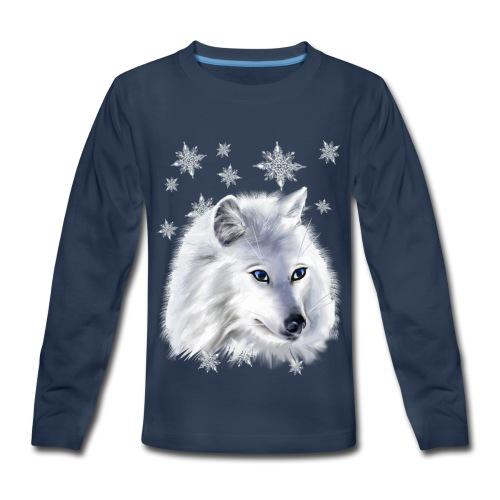WHITE SNOW WOLF  - Kids' Premium Long Sleeve T-Shirt
