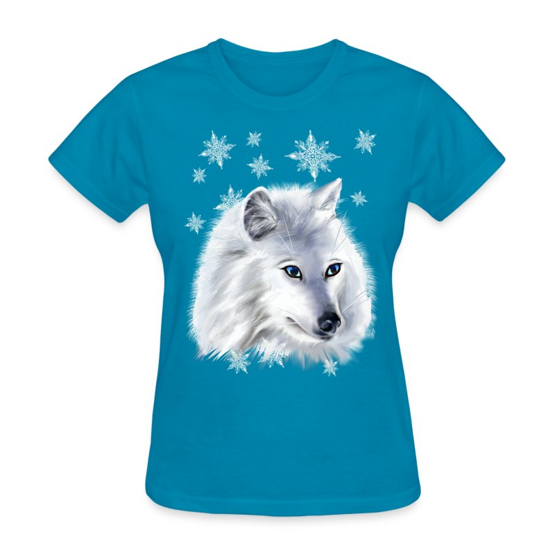 WHITE SNOW WOLF  - Women's T-Shirt