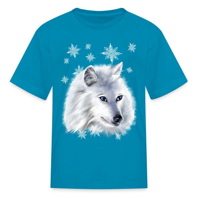 WHITE SNOW WOLF  - Kids' T-Shirt