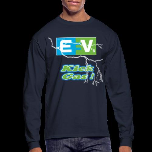 Men's Long Sleeve T- EV3 kicks Front - Men's Long Sleeve T-Shirt