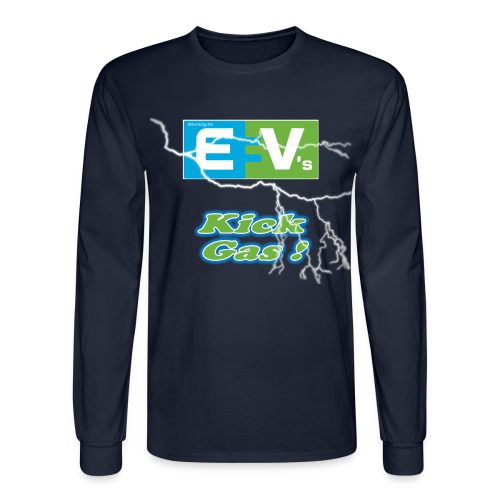 Men's Long Sleeve T- EV3 kicks Front - Men's Long Sleeve T-Shirt