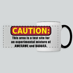 Awesome and Badass - Panoramic Mug