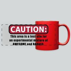 Awesome and Badass - Full Color Panoramic Mug