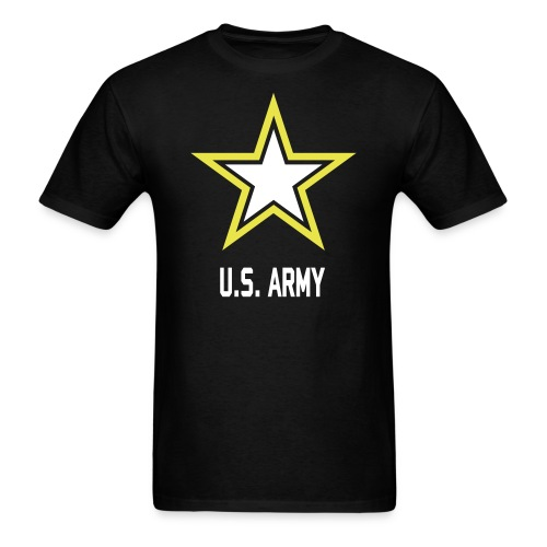 US Army Logo High Quality Flex Print - Men's T-Shirt