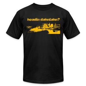Headin Danhtahn Mens American Black - Men's Fine Jersey T-Shirt