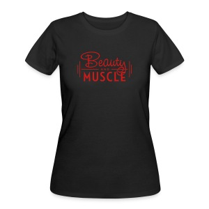 Beauty and Muscle - Women's 50/50 T-Shirt