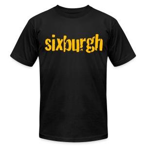 Sixburgh Mens American Black - Men's Fine Jersey T-Shirt