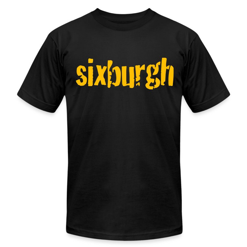 Sixburgh Mens American Black - Men's T-Shirt by American Apparel