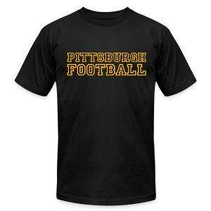 Pittsburgh Football Mens American Black - Men's Fine Jersey T-Shirt